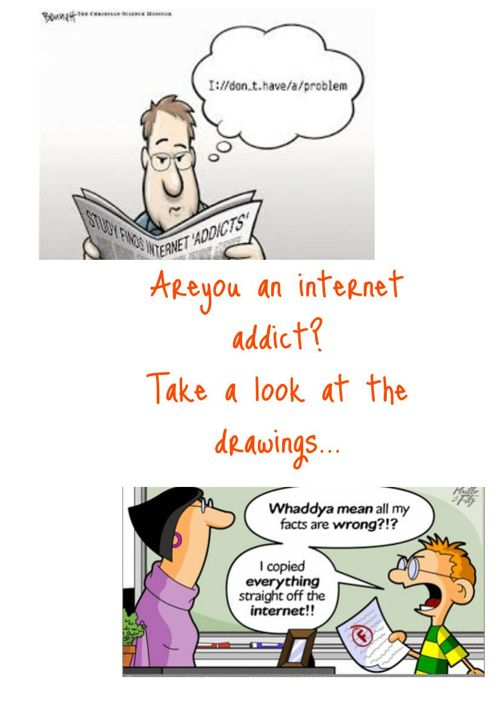 Internet Addiction drawings Project Class E'