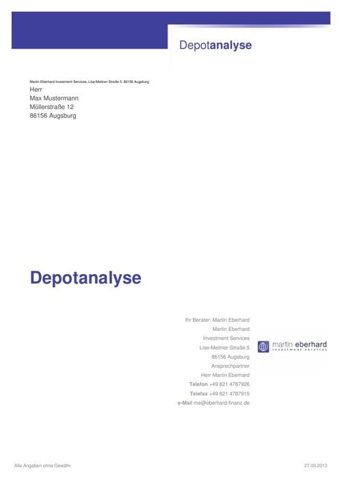 Depotanalyse - Beispiel - www.martineberhard.de
