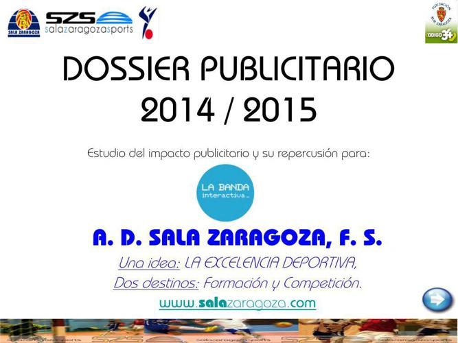 DOSSIER PUBLICITARIO 2014_15 LA BANDA INTERACTIVA