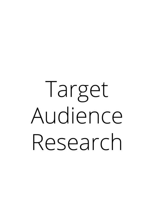 Target Audience Research