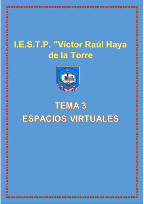 TEMA 3, ESPACIO VIRTUALES