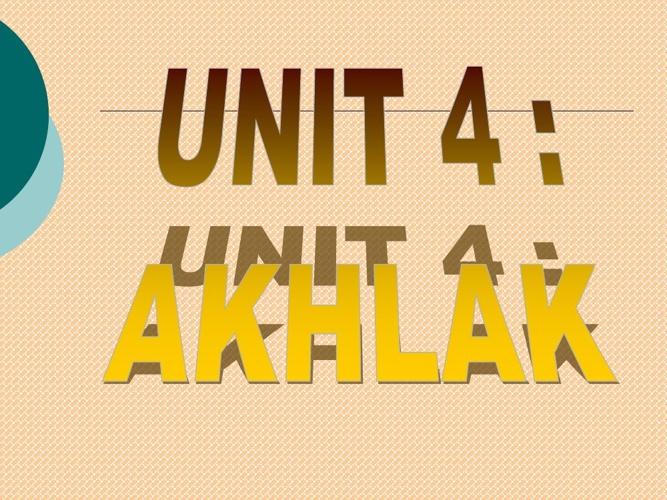 BAB 4 AK 101-Pendidikan Islam 1