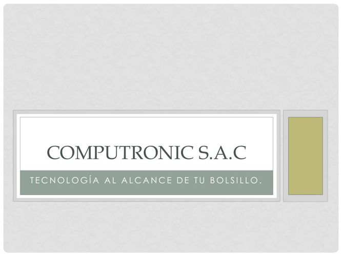 COMPUTRONIC.S.A.C