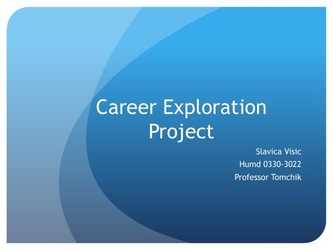 Career Exploration Project