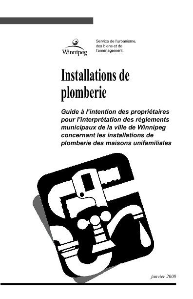 Installations de plomberie