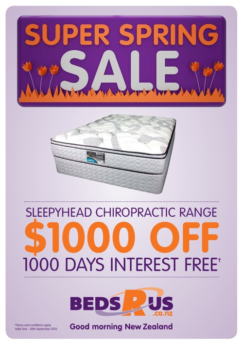 Beds R Us Super Spring Sale September 2013