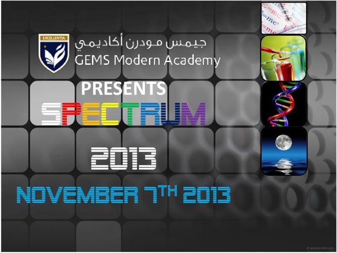 Spectrum 2013 at GEMS Modern Academy