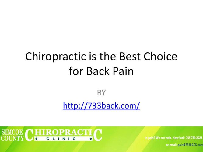 Chiropractic is the Best Choice for Back Pain