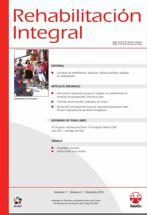 Revista Rehabilitación Integral, diciembre 2012