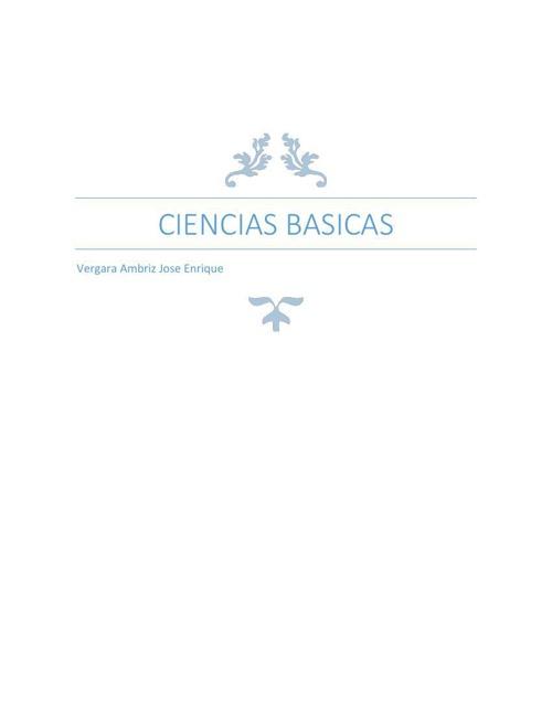 Ciencias basicas CALCULO Vergara Ambríz José Enrique
