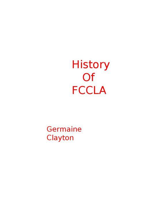 Fccla History