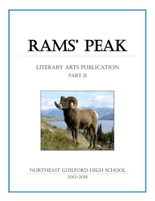 NE Guilford HS Creative Arts Publication 2013-14 (Pt 2)