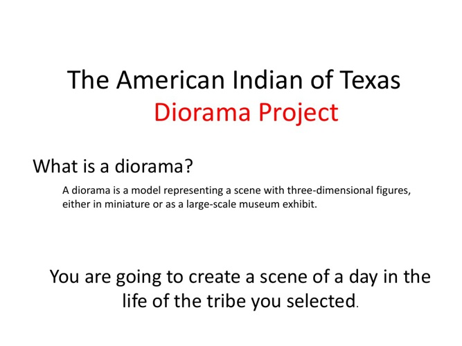 Native American Diorama How To GUIDE