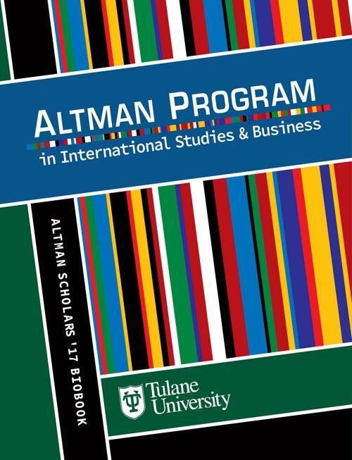 Altman Scholars '17 Bio Book