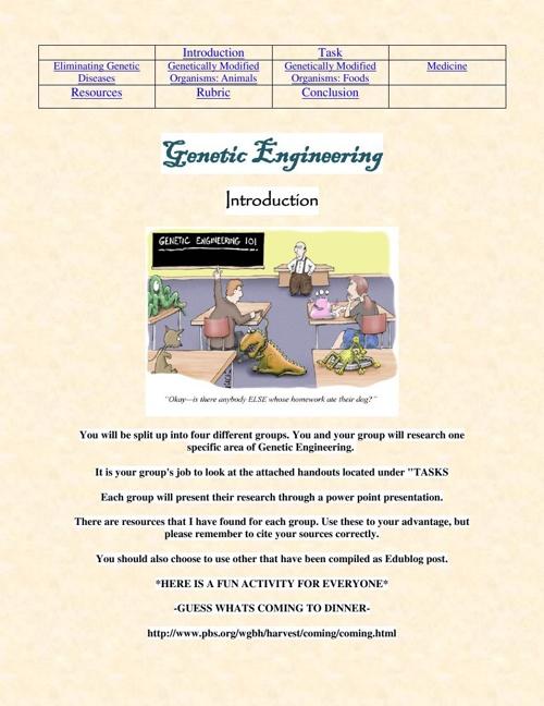 Genetic Engineering WebQuest