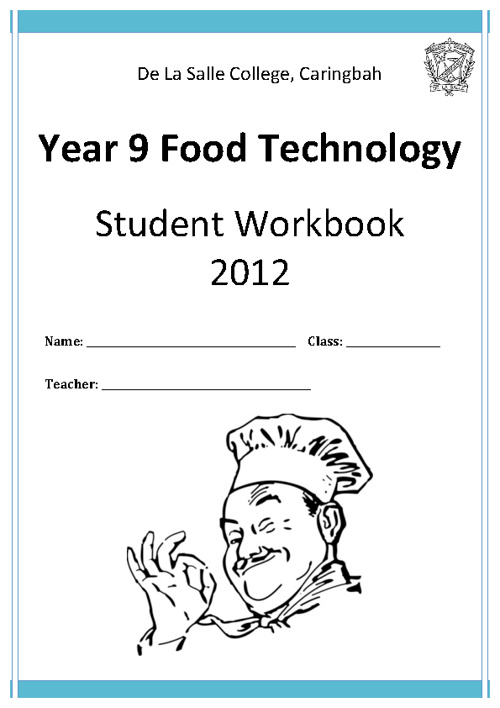 Food Technology Stage 5 - Year 9 Workbook