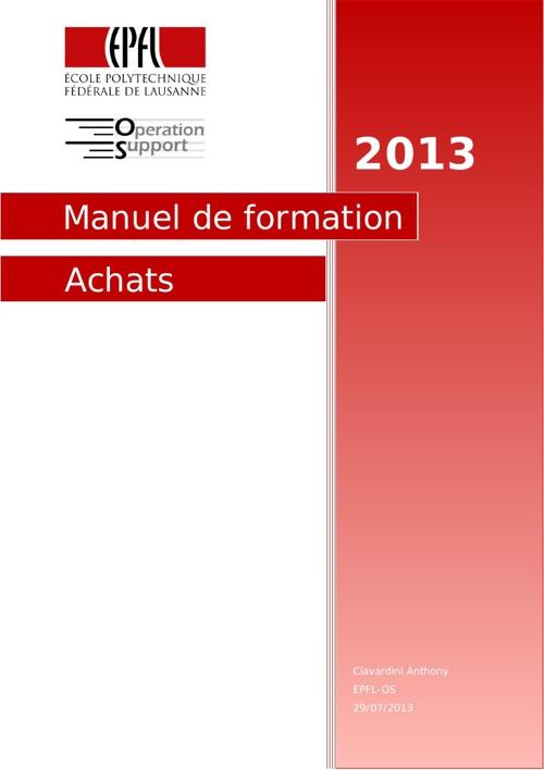 Manuel Achats
