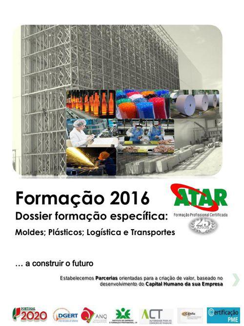 Catálogo Formação 1 º sem 2016 dossier especifica