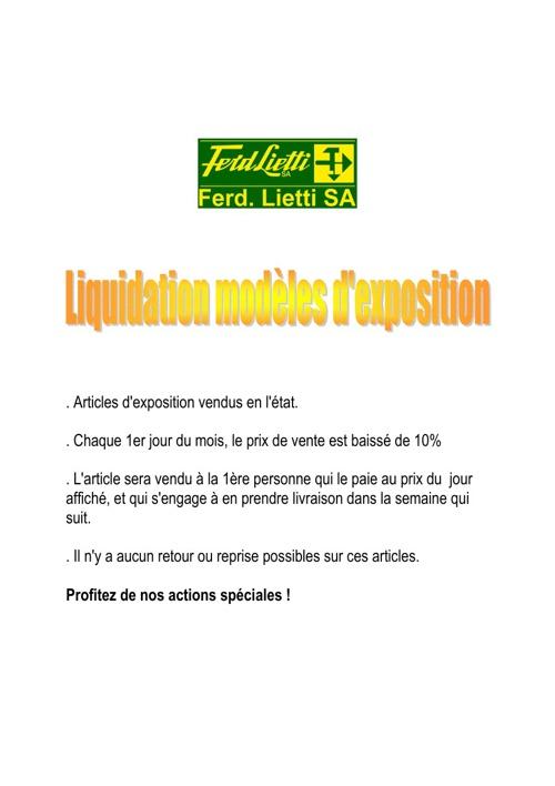 Liquidation modèles d'exposition