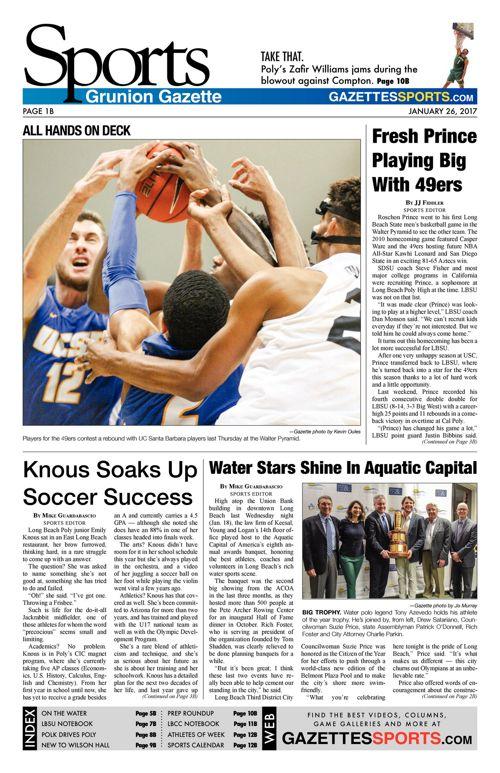 Gazette Sports     January 26, 2017