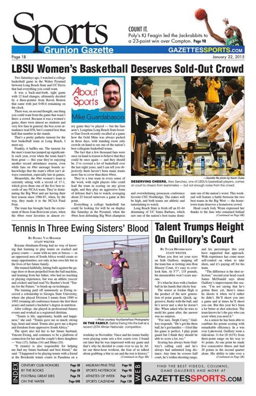 Grunion Sports  | January 22, 2015