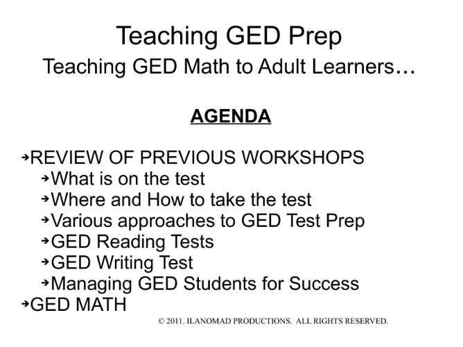 GED Presentation