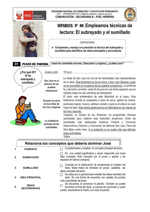 EL SUBRAYADO Y EL SUMILLADO