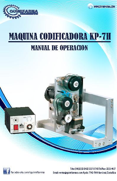 Manual Codificadora KP-7H