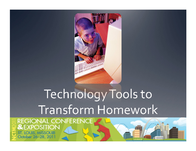 Technology Tools to Transform Homework