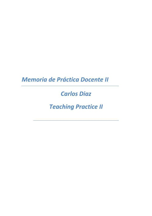 carlos diaz teaching memory II