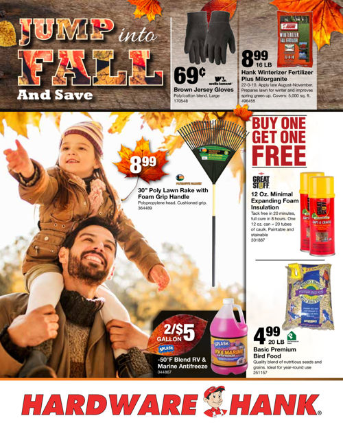 Shelby Paint & Hardware Fall Flyer