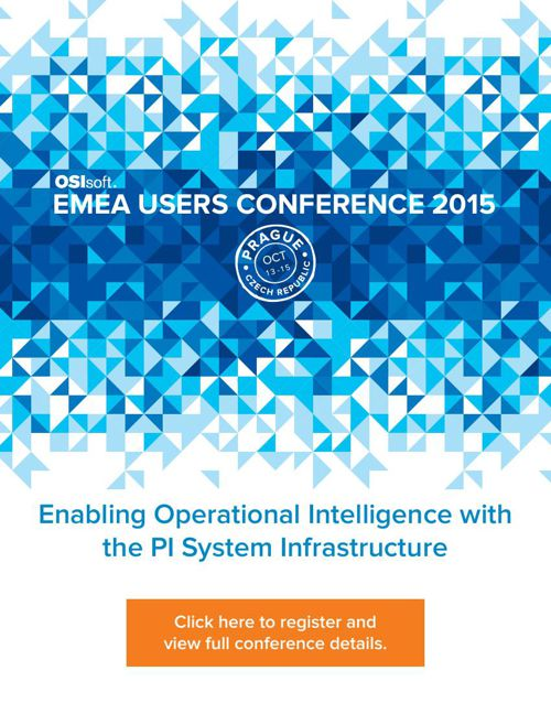OSIsoft EMEA Users Conference 2015