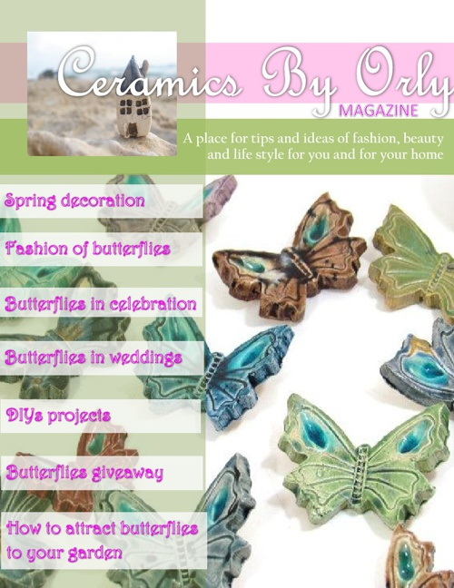 Ceramics By Orly Magazine - Spring butterflies