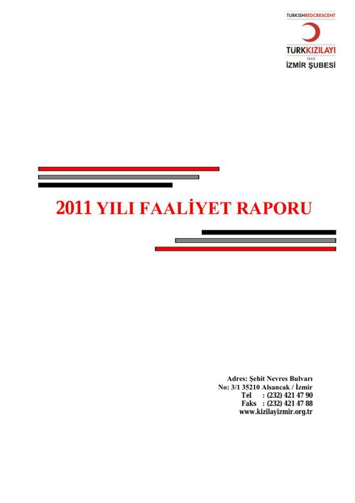İzmir Şube Faaliyet Raporu 2011