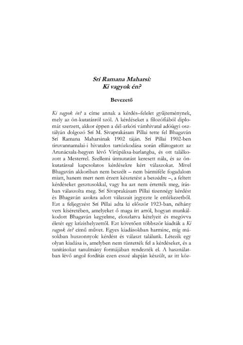 Ramana Maharsi:  Ki vagyok én ?