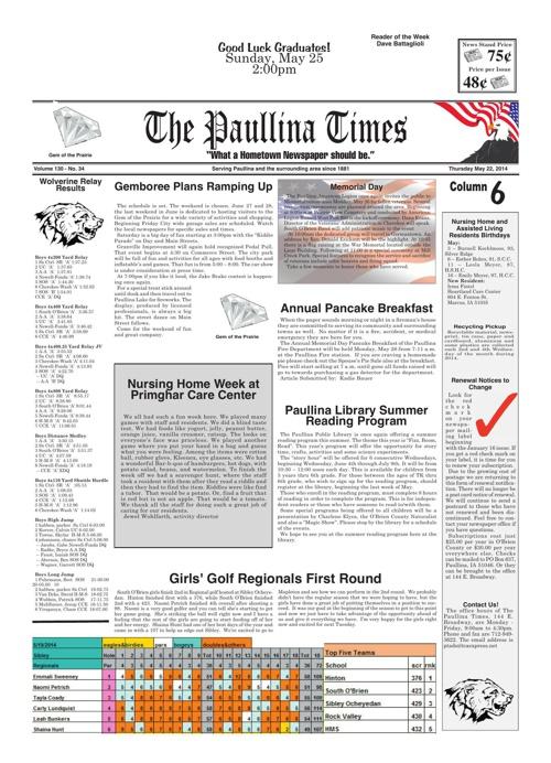 Paullina Times May 22, 2014