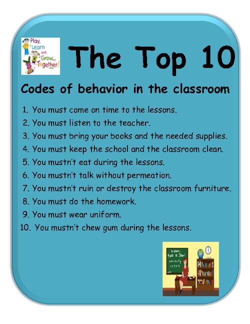 codes of behavior