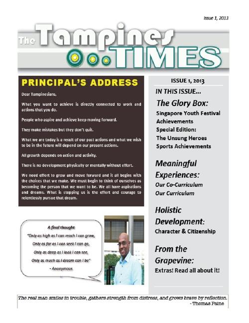 2013 TPSS Sem 1 Newsletter