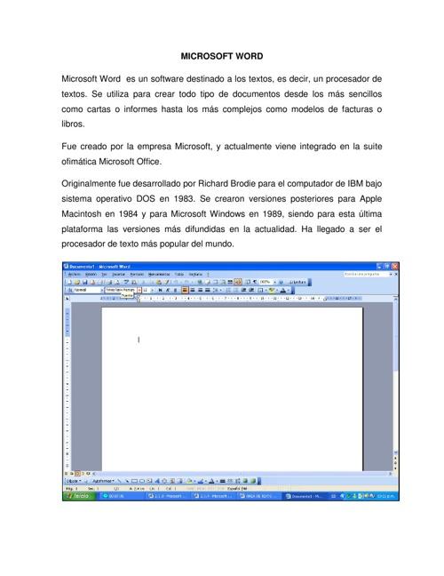Uso De La Herramienta Microsoft Word