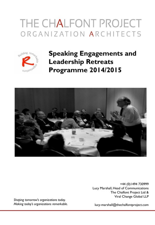 Speaking Engagements Programme 2014/15