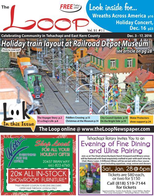 The Loop Newspaper Vol 31 No 11 - Dec 3 to 17, 2016