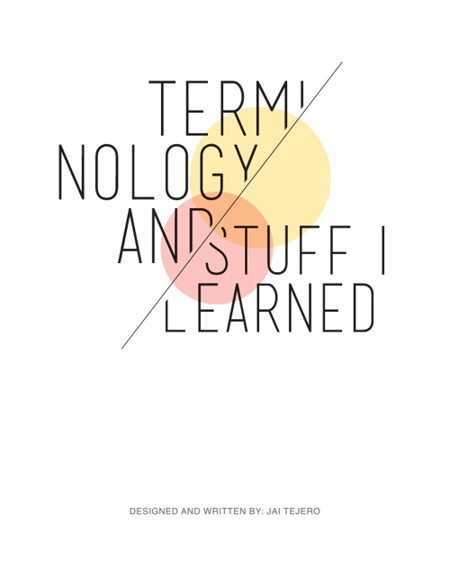 Terminology and stuff I learned