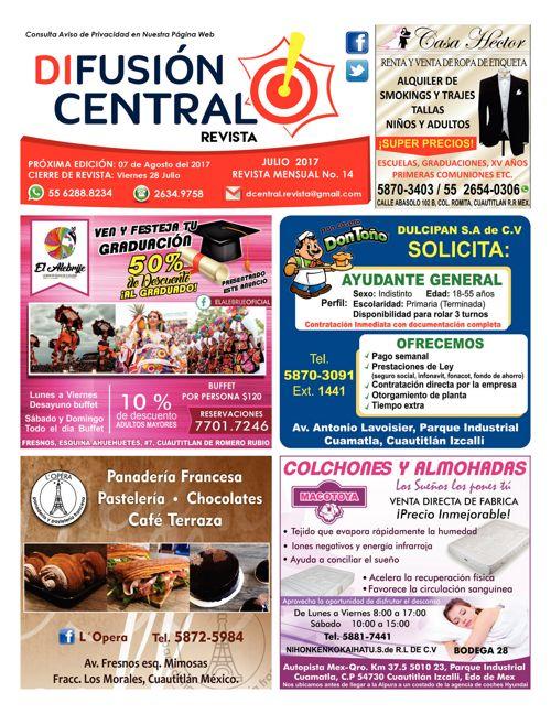 Revista Difusión Central Edic. 14