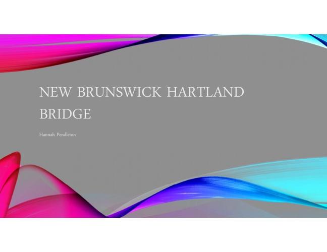 NEW BRUNSWICK HARTLAND BRIDGE