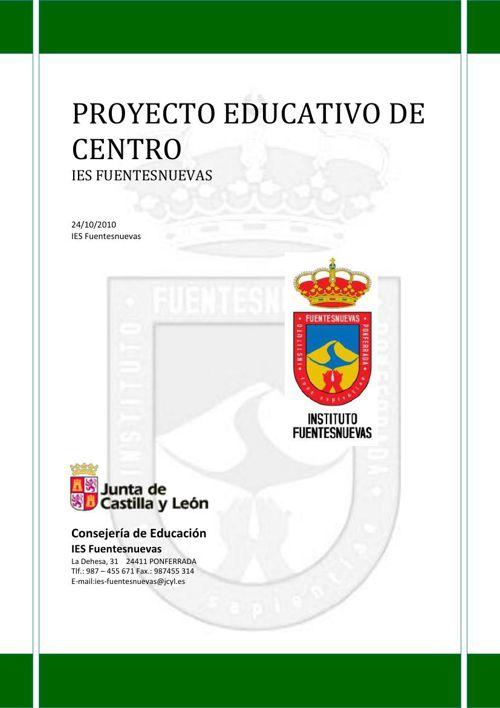 PROYECTO EDUCATIVO VERSIÓN 2010