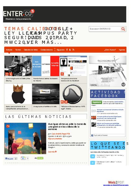Revista Enter Agosto 2011