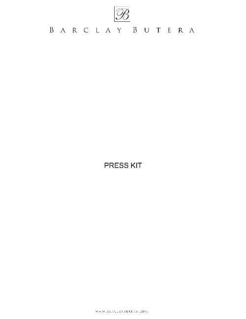 Barclay Butera E-Press Kit