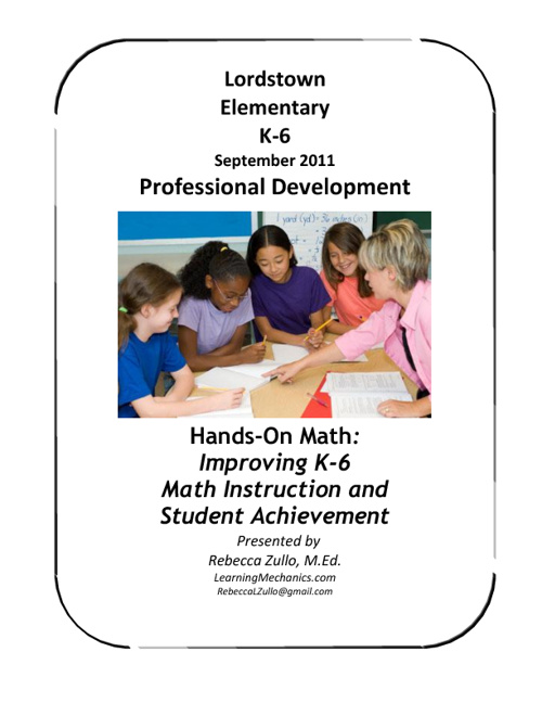 Lordstown Elementary Hands-On Math Training September 2011