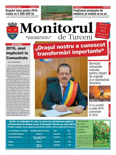 Monitorul de Turceni - nr 68 - 2016