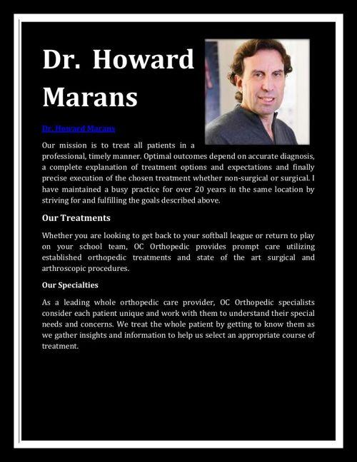 Dr. Howard Marans